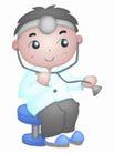 卡哇伊喷画素材0078,卡哇伊喷画素材,标题插画,少儿 医生 扮演