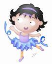 卡哇伊喷画素材0080,卡哇伊喷画素材,标题插画,少女 蓝色 裙带