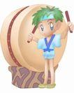 卡哇伊喷画素材0097,卡哇伊喷画素材,标题插画,男孩 魔法 魔法棒