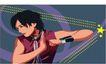亚洲时尚0024,亚洲时尚,标题插画,男生 武术 锻炼