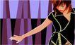 亚洲时尚0025,亚洲时尚,标题插画,明星 舞蹈 舞步