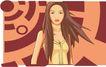 亚洲时尚0030,亚洲时尚,标题插画,长发 时尚装 女性