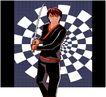 亚洲时尚0035,亚洲时尚,标题插画,刀剑 武器 背景图