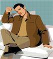 亚洲时尚0048,亚洲时尚,标题插画,男性插画
