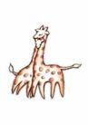 浪漫情人0045,浪漫情人,标题插画,长颈鹿