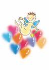 浪漫情人0051,浪漫情人,标题插画,婴儿 长翅膀 心形图案
