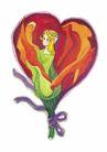 浪漫情人0055,浪漫情人,标题插画,花束 花仙子 丝带