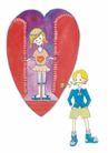 浪漫情人0056,浪漫情人,标题插画,浪漫情人 打开门 情侣形象