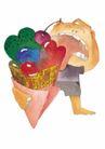 浪漫情人0060,浪漫情人,标题插画,蛋筒 红舌头 赤脚