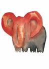 浪漫情人0061,浪漫情人,标题插画,大象 象鼻 耳朵