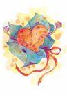 浪漫情人0071,浪漫情人,标题插画,爱心 礼物 巧克力