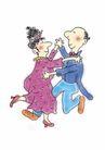 浪漫情人0079,浪漫情人,标题插画,交谊舞 抱腰 牵手
