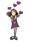 浪漫情人0090,浪漫情人,标题插画,浪漫 温心 美好