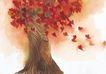 浪漫情人0099,浪漫情人,标题插画,大树 飞鸟 群居