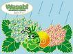 几米0017,几米,标题插画,下雨 冲凉 毛虫