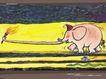 几米0023,几米,标题插画,小象 鼻子 火苗