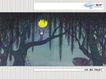 几米0056,几米,标题插画,特色插画 大森林 黄月亮