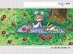 几米0071,几米,标题插画,树底 小兔 果子