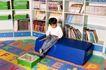 学前教育0059,学前教育,亲子教育,书房里 大书架 拼图地板