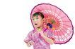 儿童造型0062,儿童造型,亲子教育,花纸伞 儿童 造型
