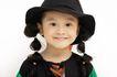 儿童造型0074,儿童造型,亲子教育,黑色 小辫 帽子