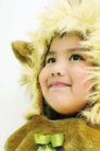 儿童造型0077,儿童造型,亲子教育,淡黄 毛帽 裹头