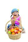 儿童广告0161,儿童广告,亲子教育,果篮 咬水果