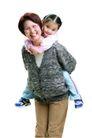 家庭亲情0025,家庭亲情,亲子教育,外婆 眼镜 背负