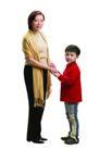家庭亲情0031,家庭亲情,亲子教育,大小 围巾 牵手
