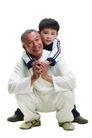 家庭亲情0032,家庭亲情,亲子教育,爷爷 蹲着 孙子