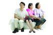 家庭亲情0046,家庭亲情,亲子教育,坐在一起