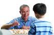 家庭亲情0061,家庭亲情,亲子教育,爷爷 孙子 象棋