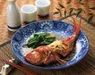 日式美食0068,日式美食,美食,红烧 鲫鱼 盘子