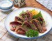 日式美食0069,日式美食,美食,肉块 葱花 上菜