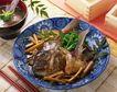 日式美食0077,日式美食,美食,清蒸 水鱼 淋葱