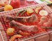 美味烧烤0053,美味烧烤,美食,旺火 铁丝网 烤肉