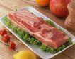 美味烧烤0054,美味烧烤,美食,鲜肉 菜叶 柠檬