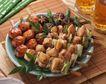 美味烧烤0057,美味烧烤,美食,烤好的食物 葱段 肉丸