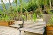 餐饮空间0056,餐饮空间,美食,餐饮环境 餐厅一角 木头长凳