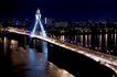 城市夜景0036,城市夜景,旅游风光,道路 桥梁 河流
