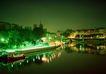 灯火阑珊0030,灯火阑珊,旅游风光,公园 彩灯 倒影