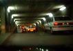 灯火阑珊0034,灯火阑珊,旅游风光,地下通道 车尾 行驶