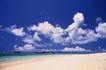 海滩0072,海滩,海洋风情,蓝天 白云 海滩