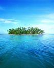 海边景致0066,海边景致,海洋风情,海中 岛屿 蔚蓝