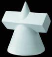 石膏像0095,石膏像,古典艺术,圆锥体 塑像 模具
