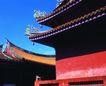 典藏文化0092,典藏文化,中华文化,佛寺 屋檐 彩绘