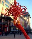 中国结0076,中国结,中华文化,红丝 飘带 春节
