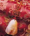 中国结0080,中国结,中华文化,玉佛 丝绸 卷轴