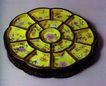 古典瓷器0175,古典瓷器,中华文化,古代圆盘 杂物盒 精致花式
