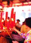 祈福0025,祈福,中华文化,妇女 红烛 烛火